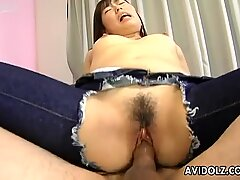 Fat Japanese tramp Kaori Natsuno gets drilled doggystyle and missionary