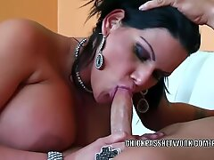 chubby milf Angelina Castro gets her Latina cunt stuffed