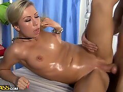 Blonde babe Suzanna gets rammed by dirty masseur