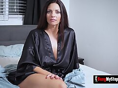 Hot milf and stepdaughter finger and lick their cunts til they cum