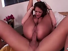 Watch big breasted Angelina Castro take a fat dick deep inside her dripping hole