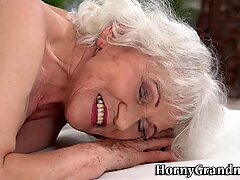Old granny gets rimmed and fucked