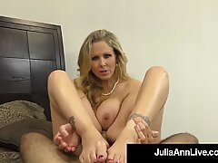scorching classy Milf Julia Ann Takes A Cock In Her Mouth & hands!