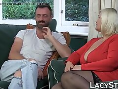 Granny has her anal hole banged balls deep in a threesome