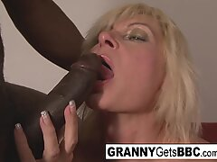 Blonde mature gets ass filled with BBC!