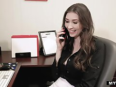 Busy & Busty Angelina Diamanti - Office Quickie!Report this video