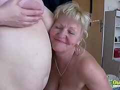 Oldnanny Two fat lesbian matures sucking old cock