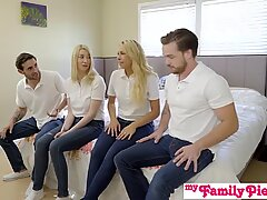 StepSiblings Orgy Fuck In Front Of Mom - MyFamilyPies S3:E4