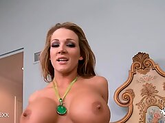 Redhead Huge Tits Bounce As She Gets Fucked Up The Ass