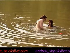 asia zo and andrea sky- public water strip game
